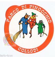 PARCO DI PINOCCHIO collodi 80s italy sticker - adesiva pubblicitaria Mussino