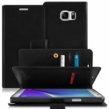 Leather wallet Trifold Flip book Case cover for iPhone X Galaxy S9 Note 8 V20 G7