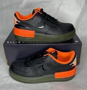 Nike W AF1 Shadow SE Air Force 1 Black Hyper Crimson CQ3317-001 Women's Size 8