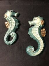 Vintage Bradley Pair Of Sea Horses Hanging Wall Plaque