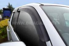 To Fit 2011+ Nissan Juke Smoke Tinted Window Wind Rain Deflectors - Adhesive