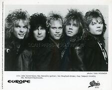 EUROPE THE FINAL COUNTDOWN 1986 VINTAGE PROMO PHOTO ORIGINAL EPIC