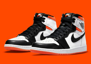 Nike Air Jordan 1 Retro High OG SZ 11 Electro Orange White Black 555088-180