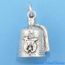 SHRINERS SHRINER FEZ HAT TARBOOSH FREEMASONRY 3D 925 Solid Sterling Silver Charm