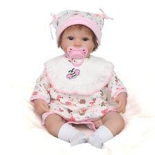 Lifelike Newborn Baby Girl Boy Dolls Realistic Reborn Toys Artist Xmas Gifts Hot Open Eyes in Pink