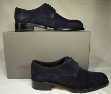 Brioni Dark Blue Suede Leather Mens Dress Shoes Size 8
