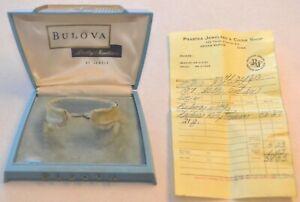 1960 Bulova Dolly Madison Watch Display Box w/ Original Receipt, Vintage Iowa