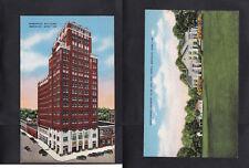 Vintage Postcard Lot MS - MERIDIAN Threefoot Building, Northwood Country Club