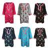 Women Ladies Cotton Stylish Kurti Indian Pakistani Kurta Tunic Top Kaftan 19-154
