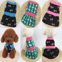 2018 Pet Puppy Small Dog Cat Clothes Dress Vest T Shirt Summer Apparel Costume