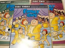 "FAMILY GUY SEASON FOUR, MODERN ANIMATED, 3 DVDS, PAL ""PREOWNED"" AUZ SELLER"