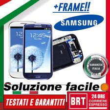 LCD+TOUCH SCREEN +FRAME PER SAMSUNG GALAXY S3 GT-i9300 DISPLAY SCHERMO+TELAIO!!!