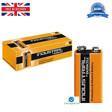 10 Duracell Industrial 9V PP3 MN1604 Block Professional Performance Batteries