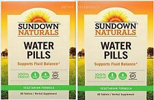 Sundown Naturals Herbal Supplement Natural Water Pills, 60 Ct  ( 2 pack )