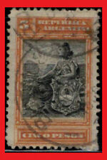 ZAYIX - 1899 Argentina # 140 used (letter cancel) Liberty Seated