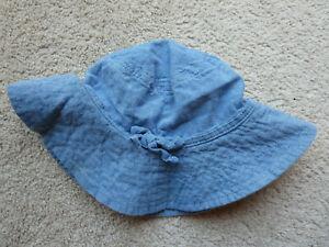 BabyGap Blue Denim Sun Bucket Hat Small/Medium 51cm