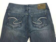 "Silver Suki Boot Cut Mid Rise Stretch Light Wash Womens Jeans 30W/30L rise 8.5"""