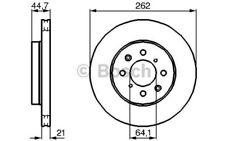 1x BOSCH Disco de freno delantero Ventilado 262mm Para ROVER 200 0 986 479 B23