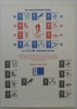 Document philatélique Musée de la Poste Meilleurs Voeux 1992