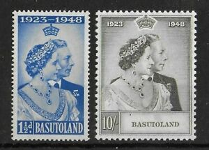 BASUTOLAND 1948 Mint NH Silver Wedding Complete Set of 2 SG #36-37 VF