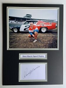 """Nascar Dave Marcis Signed 16"""" X 12"""" Double Mounted Display"""