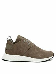 Adidas Men's NMD_C2 Suede Tan/White Sz 9.5 BY9913 Fashion Shoe