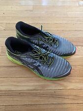 ASICS DynaFlyte Grey/Black/Yellow Running Shoe US Mens Size 13 T6F3Y.9690