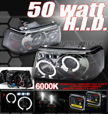 2001-2011 FORD RANGER HALO LED PROJECTOR HEADLIGHTS+HID XENON SMOKE PICKUP TRUCK