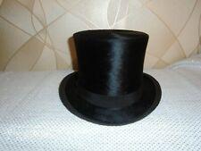 Vintage Black Silk Top Hat by CITY STYLE