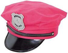 Vrac lot de 4 policier Peak Cap Police Cop Hat Fancy Dress Costume Job Lot