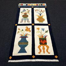 TAPPETO Orientale Nepal 180 x 95 cm VASI immagine immagine tappeto mano intessuti Carpet Rug