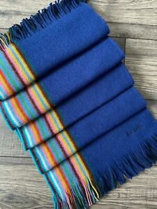 PAUL SMITH REVERSIBLE MULTISTRIPE SCARF 100% PURE NEW WOOL