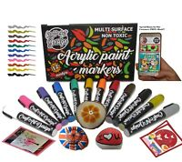 Paint Water Based Acrylic Markers Pens Any Surface Rock Glass Ceramic set 12 pcs