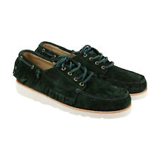 Sebago Poncho Mens Green Suede Casual Dress Lace Up Ronnie Fieg Shoes