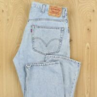 faded & distressed light wash LEVI's 505 fit jeans 38 x 32 (38 x 34 tag) grunge