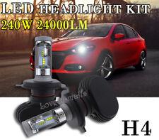 H4 9003 6000K White CSP High Power LED Headlight Bulb Lamp Kit 240W 24000LM HiLo