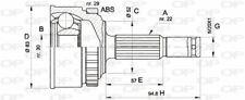 TêTE DE CARDAN POUR OPEL ASTRA F CLASSIC BREAK 1.6 I 16V,1.6 SI