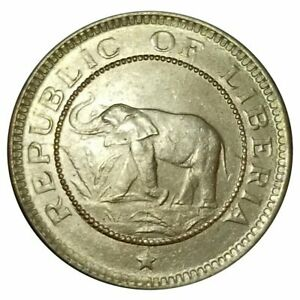 Liberia 1937 Half Cent ~ Elephant Coin ~ Palm Tree Coin ~ Uncirculated ~
