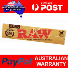 5x Raw Classic King Size Slim Natural Unrefined Rolling Papers Smoking Tobacco