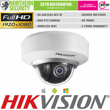HIKVISION DS-2DE2202-DE3/W MINI PTZ 2MP 1080P POE WIFI P2P HD CCTV IP Camera