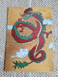 """"""" MYSTICAL CHINESE DRAGON """" A5 POSTER."""