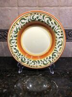 "(1) PIER 1 ""UMBRINA"" HANDPAINTED EARTHENWARE RIMMED SOUP BOWL****"
