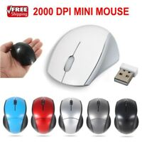 2.4GHz Optical Cordless Wireless +ROB Receiver Mouse Mice For Laptop PC Computor