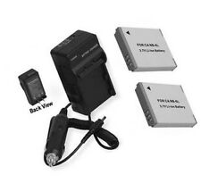 NB-6LH 2 Batteries + Charger for Canon PowerShot SX500 IS SX510 HS SX700 HS