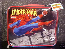 *SPIDER-MAN*SOFT SIDE LUNCH BAG*TOTE*BOX*BLUE*NWT*