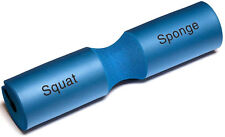 "Squat Sponge Olympic Barbell Padding Weight Lifting Bar Pad 18"" Long NEW BLUE"