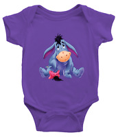Infant Baby Boy Girl Rib Bodysuit Clothes baby shower Gift Eeyore Gloomy Donkey