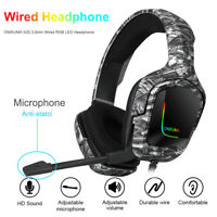 ONIKUMA K20 3.5mm Wired RGB LED Headphone with Microphone for PC Phone PS4