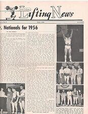 IronMan Lifting News Weightlifting Muscle Magazine Jr. Nationals May 1956,5-56