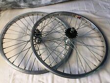 "BMX 20"" wheel set Zac 4019 Weinmann rims 3/8 KK Axles 16 Tooth Mid School"